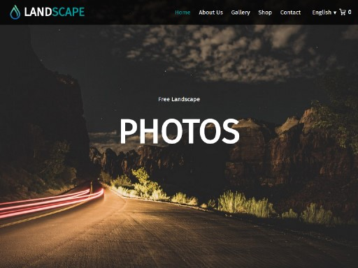 landscape - responsive website template built with TOWeb, the responsive website creation software