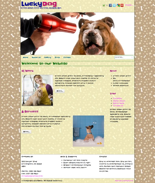 luckydog - responsive website template built with TOWeb, the responsive website creation software