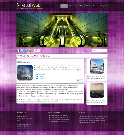 metalweb - responsive website template built with TOWeb, the responsive website creation software