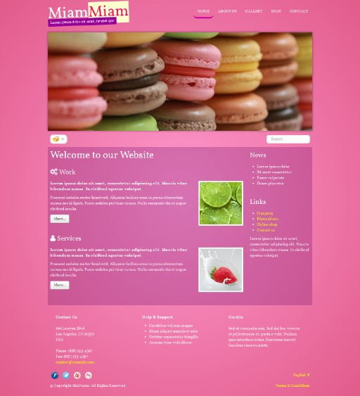miammiam - responsive website template built with TOWeb, the responsive website creation software
