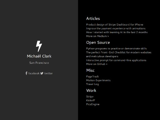 michaelclark - responsive website template built with TOWeb, the responsive website creation software