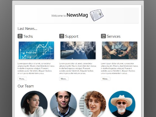 newsmag - responsive website template built with TOWeb, the responsive website creation software