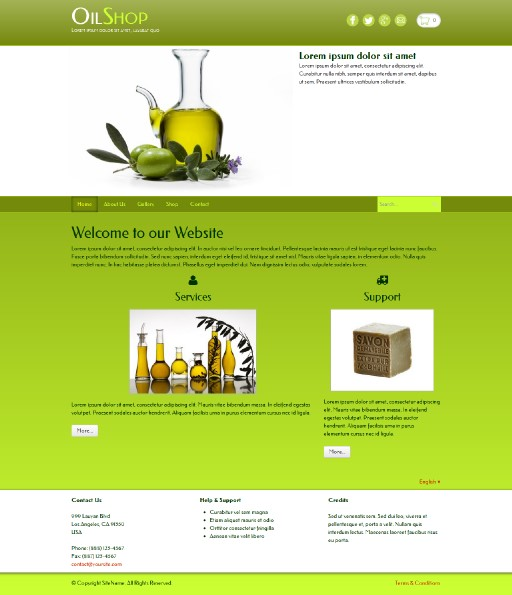 oilshop - responsive website template built with TOWeb, the responsive website creation software