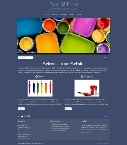 paintpaper - responsive website template built with TOWeb, the responsive website creation software