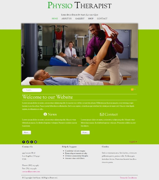 physiotherapist - responsive website template built with TOWeb, the responsive website creation software