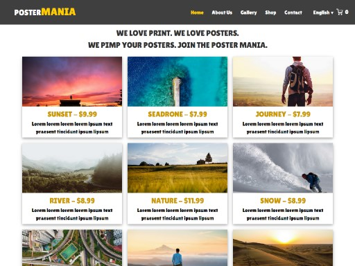 postermania - responsive website template built with TOWeb, the responsive website creation software
