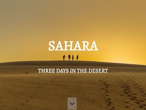 sahara - responsive website template built with TOWeb, the responsive website creation software