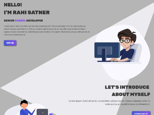 satner - responsive website template built with TOWeb, the responsive website creation software