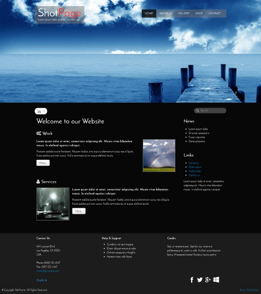 shotpage - responsive website template built with TOWeb, the responsive website creation software