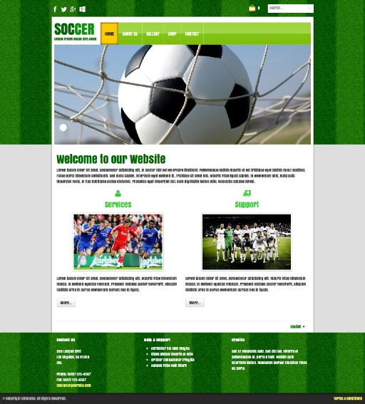 soccer - responsive website template built with TOWeb, the responsive website creation software