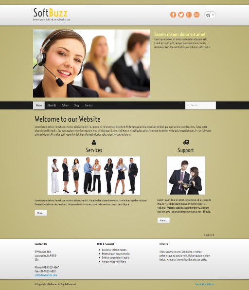 softbuzz - responsive website template built with TOWeb, the responsive website creation software