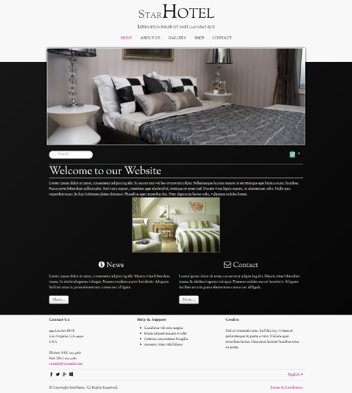 starhotel - responsive website template built with TOWeb, the responsive website creation software