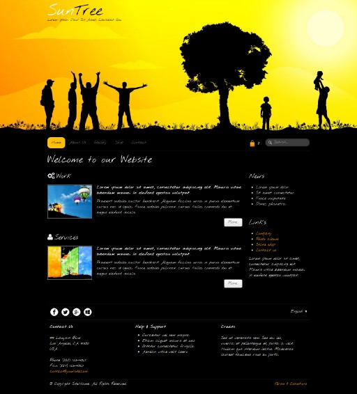 suntree - responsive website template built with TOWeb, the responsive website creation software