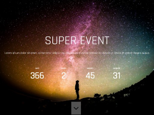superevent - responsive website template built with TOWeb, the responsive website creation software