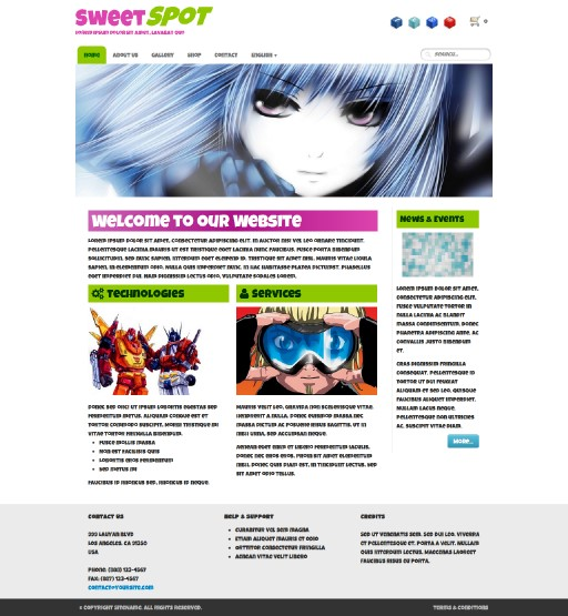 sweetspot - responsive website template built with TOWeb, the responsive website creation software
