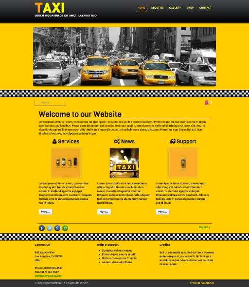 taxi - responsive website template built with TOWeb, the responsive website creation software