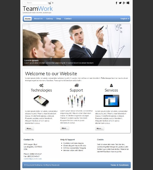 teamwork - responsive website template built with TOWeb, the responsive website creation software