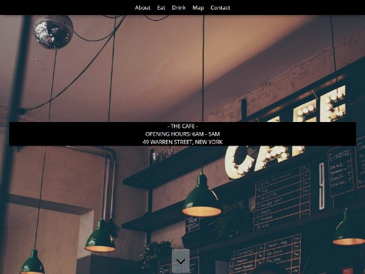 thecafe - responsive website template built with TOWeb, the responsive website creation software