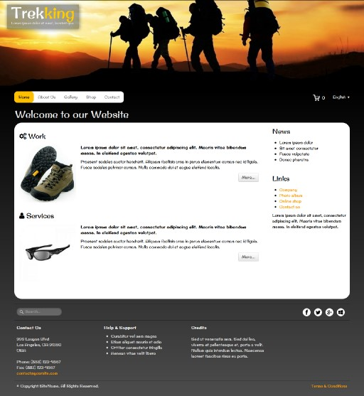 trekking - responsive website template built with TOWeb, the responsive website creation software