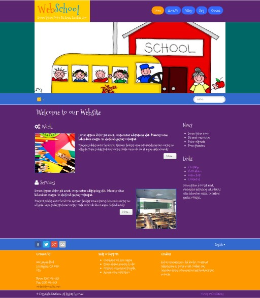 webschool - responsive website template built with TOWeb, the responsive website creation software
