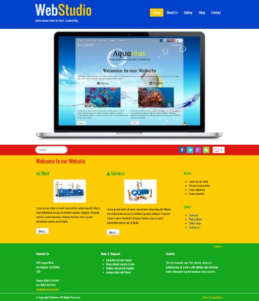 webstudio - responsive website template built with TOWeb, the responsive website creation software