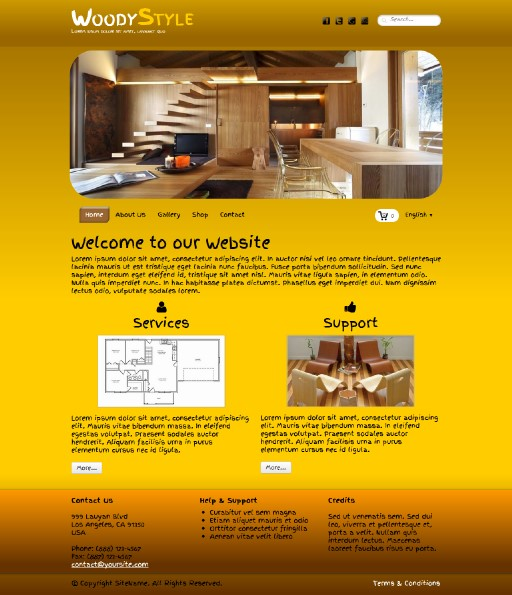 woodystyle - responsive website template built with TOWeb, the responsive website creation software
