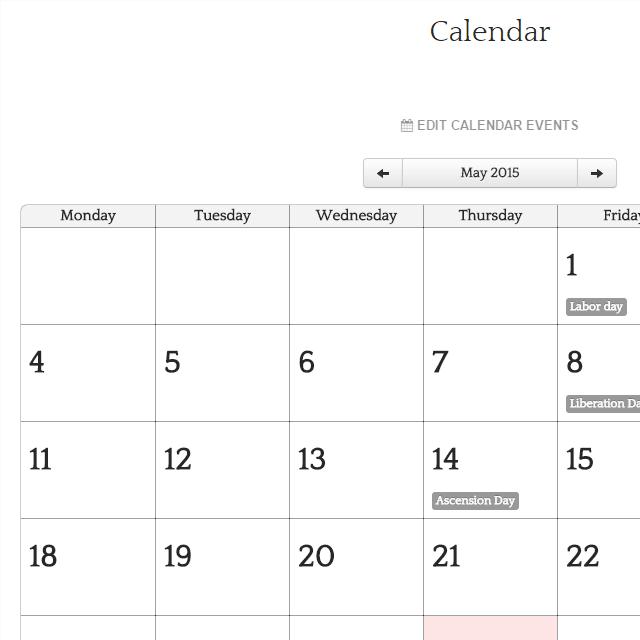Calendario Per Sito Web.Nuova Versione 6 Toweb